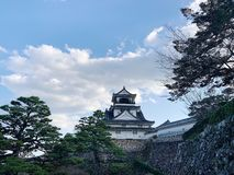 Kochikasteel in Kochi-Prefectuur, Japan stock fotografie