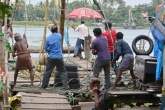 Kochin fishing Stock Photo