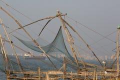 KOCHIN INDIA-FEBRUARY 24: Indiska fishemans 24, 2013 i Kochin, Arkivfoton