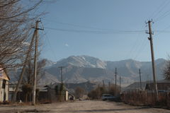Kochkor i Kirgizistan Arkivfoton