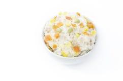 Kochreis mit Gemüse Lizenzfreies Stockfoto