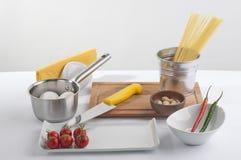 Kochvorbereitungsset Stockbild