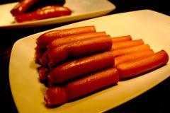 Kochwurst im Teller stockbilder