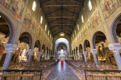 Kościół Lourdes, wnętrze (Mediolan) Obraz Royalty Free