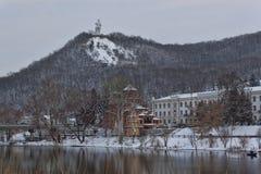 Kościół Sviatohirsk Lavra Zdjęcie Royalty Free
