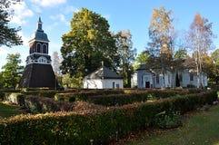 Kościół w miasteczku Ludvika, Szwecja, Europa Obraz Royalty Free
