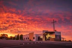 Kościelny wschód słońca Fotografia Royalty Free