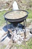 Kocioł dla kulinarnego pilaf Fotografia Stock