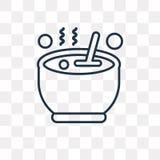Kocioł wektorowa ikona odizolowywająca na przejrzystym tle, liniowym ilustracja wektor