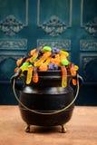 Kocioł asortowany Halloween cukierek Obrazy Royalty Free