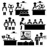 Kock Clipart för kock för matlagninggrupp Arkivbilder