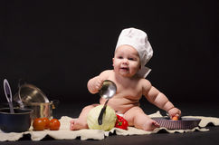 Kock för liten unge royaltyfri foto