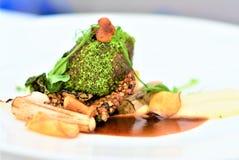 Kock i gastronomi Löst i dess egen sås arkivfoto