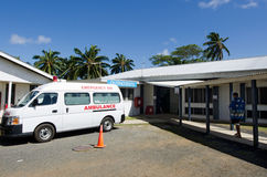 Kock Island Hospital i den Rarotonga kocken Islands Arkivfoto