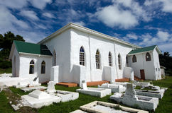 Kock Islands Christian Church (CICC) i den Aitutaki lagunkocken Is Royaltyfria Bilder