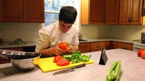 Kock som direktanslutet får recept lager videofilmer