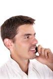 Kock som talar på telefonen Royaltyfria Foton