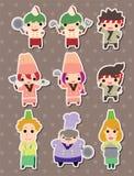 Kocketiketter royaltyfri illustrationer