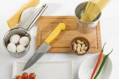 Kockförberedelse royaltyfri fotografi
