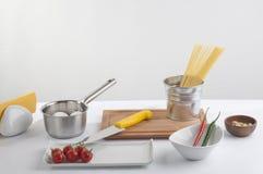 Kockförberedelseset royaltyfria foton