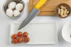 Kockförberedelseset arkivfoton