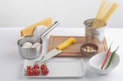 Kockförberedelseset arkivbilder