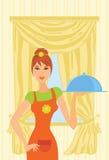 kockflicka Royaltyfri Illustrationer