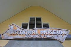 KockIslands National Museum Rarotonga kock Islands Arkivbild