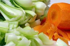 kockkök som är klart till grönsaker Royaltyfri Foto
