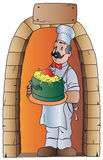kockkruka med spagetti Royaltyfri Foto