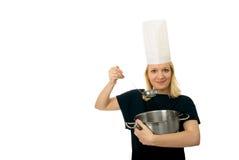 kockkvinna Fotografering för Bildbyråer