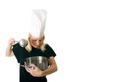 kockkvinna Arkivfoton