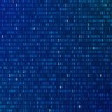 kod binarny Programować szyfrującą informację tła binarnego kodu ziemi telefonu planety technologia Strumień zero i ones royalty ilustracja