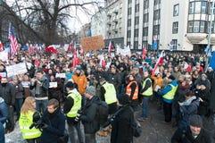 KOD demonstration in Krakow, Poland royalty free stock images
