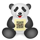 Kod för panda QR Royaltyfria Bilder
