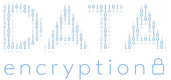 Kod för säkerhet för kryptering för Digitala data Arkivbild