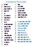 kod Morse Obrazy Stock
