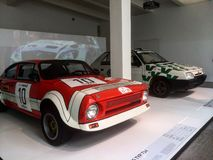 Škoda museum. Race cars in Royalty Free Stock Images