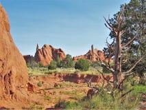 Kodachrome国家公园红色岩石  免版税图库摄影