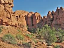Kodachrome国家公园红色岩石  库存照片