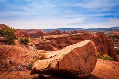 Kodachrome盆地国家公园,美国惊人的看法  库存照片