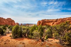 Kodachrome Basin State Park, Utah, USA. Kodachrome Basin State Park provides an  incredible desert landscape with maybe the most colorful and unusual shaped Royalty Free Stock Photo