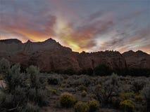 Kodachrome solnedgång Arkivbild