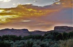 Kodachrome solnedgång Royaltyfri Fotografi
