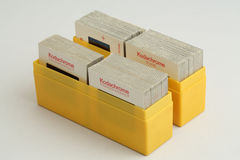 Kodachrome Transparencies. Kodachrome transparency/slide film dating back to the nineteen seventies Stock Images