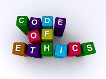 kodad etik royaltyfri illustrationer
