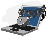 kodad viruset för säkerhet för datorbegreppsprogramet Arkivfoto