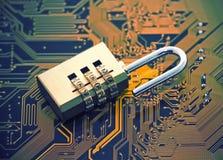 kodad viruset för säkerhet för datorbegreppsprogramet arkivfoton