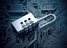 kodad viruset för säkerhet för datorbegreppsprogramet royaltyfria bilder