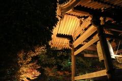kodaiji夜的秋季 免版税库存照片